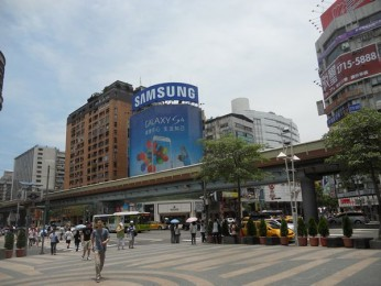 Samsung advertising in Taipei