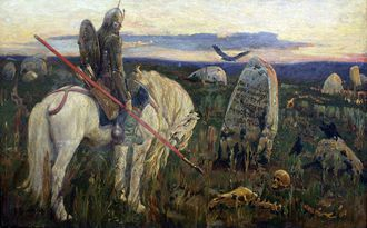 A knight at the crossroads, Victor Vasnetsov