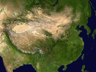 Photo of China from satellite - Wikimedia Commons