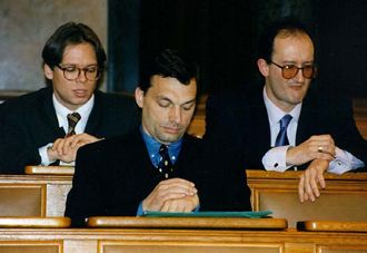 Viktor Orban, Hungary's PM, when he was quite a slip of a youth