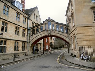 Oxford's own Bridge of Sighs, pic Mike Magee
