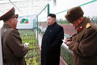 Kim Jong Un, courtesy of North Korea news agency