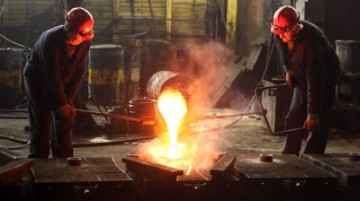 stock-footage-melting-iron-in-the-foundry-iron-casting