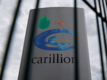 FILE PHOTO: A Carillion sign in Manchester, Britain July 13, 2017. REUTERS/Phil Noble/File Photo - RC1FB056E500
